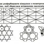Геометричні візерунки. Розвиваємо увагу